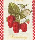 Novelty Cotton Fabric 43\u0022-Patch Strawberry