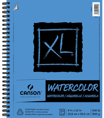 "Canson XL Watercolor Pad 9""X12""-30 Sheets"
