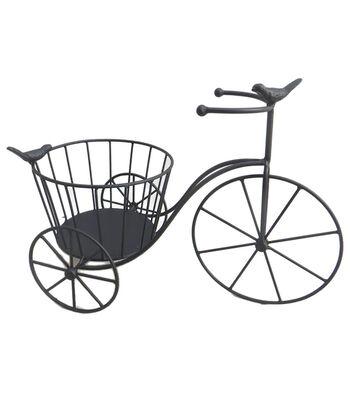Hello Spring Gardening Bike Plant Stand-Black