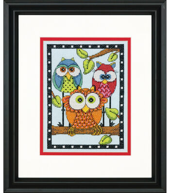 Dimensions® 5''x7'' Counted Cross Stitch Kit-Owl Trio