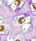 Disney Sofia the First Fleece Fabric 59\u0027\u0027-Sofia & Friend