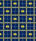 University of Michigan Wolverines Flannel Fabric 42\u0022-Plaid