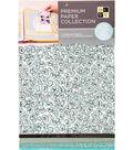 DCWV 8.5\u0022X11\u0022 set of 5 Premium Papers-Teal Assortment