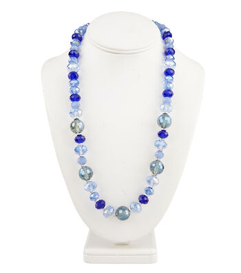 Short Multi Necklace Blue