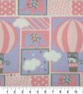 Nursery Fleece Fabric 59\u0027\u0027-Purple Adventure Patch