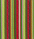 Holiday Showcase™ Christmas Cotton Fabric 43\u0022-Dot Stripe