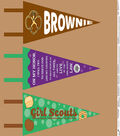 Girl Scout Pennant Felt Fabric 44\u0022-Brownie Panel