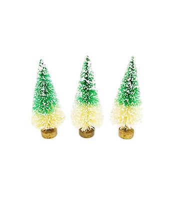 Maker's Holiday Christmas Littles 3 pk Sisal Trees-Green Ombre