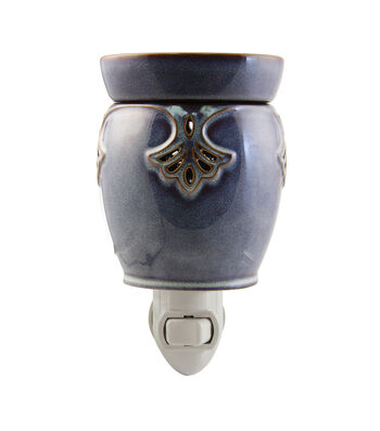 Hudson 43™ Candle & Light Collection Blue Art Deco Plug In