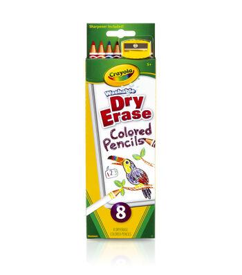 Crayola 8 Ct. Dry Erase Colored Pencils