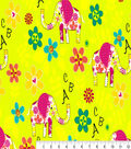Snuggle Flannel Print Fabric 41\u0022-ABC Elephants