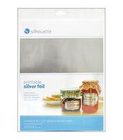 "Silhouette Printable Adhesive Foil 8.5""X11"" 8/Pkg-Silver, , hi-res"