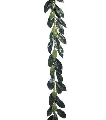 6' Magnolia Leaf Garland with 44 Lvs. Green