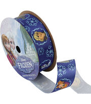 "Frozen Ribbon 7/8""x9'-Royal Characters, , hi-res"