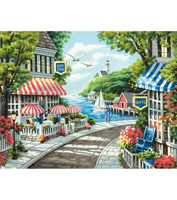 Dimensions Cafe By The Sea Paint By Number Kit