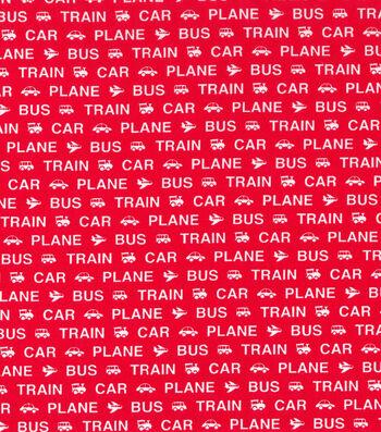 Nursery Cotton Fabric 43''-Transport Words