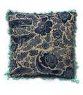 Sea to Sea 18\u0027\u0027x18\u0027\u0027 Pillow with Tassel Trim-Whale Print