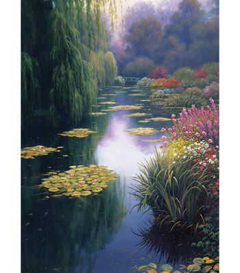 """View From Monet's Bridge Counted Cross Stitch Kit-16""""X12"""" 16 Count"""