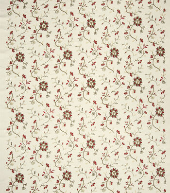 """French General Print Fabric 51""""-Caspian/Rural Red"""