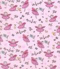 Novelty Cotton Fabric 43\u0027\u0027-Fairy Princess on Pink