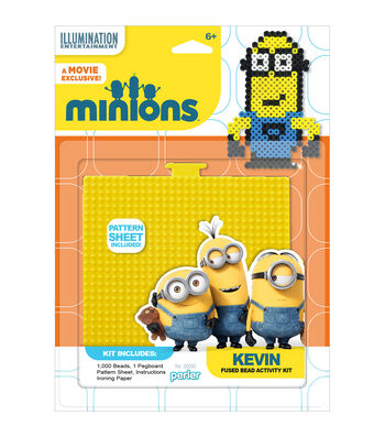 Perler Minions Pegboard-Large Square/Kevin