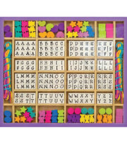 Melissa & Doug Wooden Stringing Beads, , hi-res
