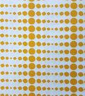 Koko Lee™ Cotton Fabric-Linear Dots Orange On White
