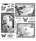 Hot Off The Press Acrylic Stamps 8\u0022X8\u0022 Sheet-Postcards