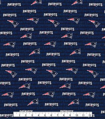 New England Patriots Cotton Fabric 58''-Mini Print