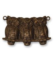 Vintaj Metal Accent-Perched Owls 22x11.5mm, , hi-res