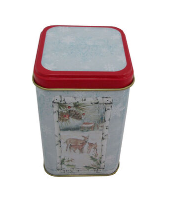 Maker's Holiday Christmas Small Square Canister-Deer