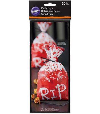 Wilton Halloween 20 pk Party Bags-RIP
