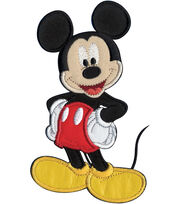 "Disney® Iron On Applique-Mickey Mouse 3-1/4""X5-1/2"" 1/Pkg, , hi-res"