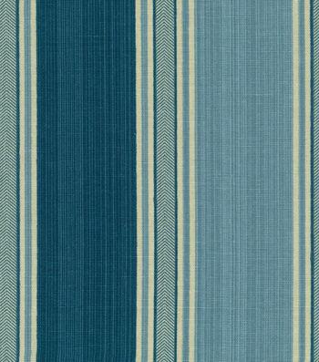 "Waverly Upholstery Fabric 54""-Spotswood Stripe Porcelain"