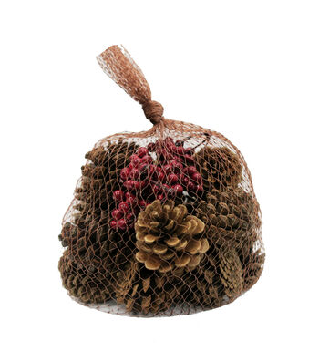 Blooming Holiday Christmas 26 pk Small Pinecone in Mesh Bag