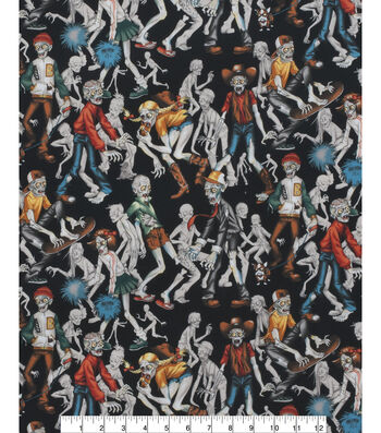 "Halloween Cotton Fabric 45""-Zombie High"
