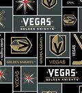 Vegas Golden Knights Fleece Fabric 60\u0027\u0027-Block