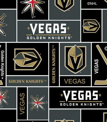 Vegas Golden Knights Fleece Fabric 60''-Block