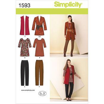 Simplicity Pattern 1593AA 10-12-14-1-Misses Sportswear