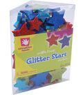 Fibre Craft Glitter Foam Stickers-2.25 oz./Stars