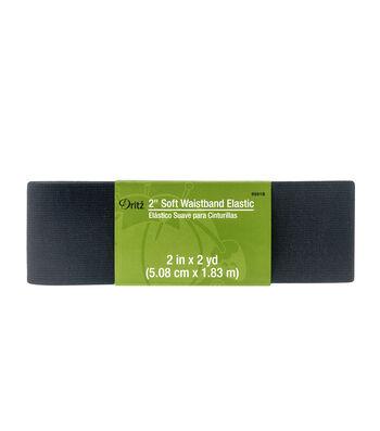 Dritz® 2'' Soft Waistband Elastic-Black