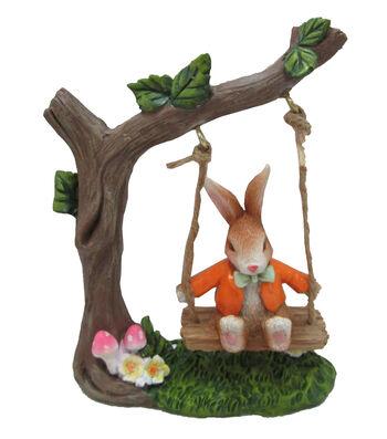 Easter Littles Resin Rabbit on Swing