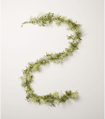 Fresh Picked Spring 66'' Baby's Breath Garland-Cream & Green