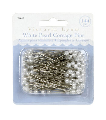 Darice® 144ct Pearl Corsage Pins-White