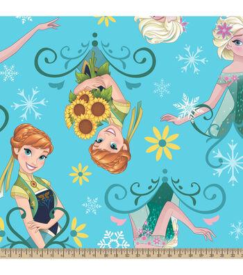 "Disney Frozen Fleece Fabric 59""-Sunflowers"