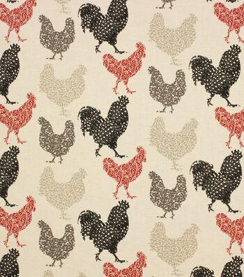 Hudson 43 Farm Upholstery Fabric-Red Rifton