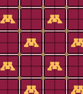 University of Minnesota Gophers Flannel Fabric 42\u0022-Plaid