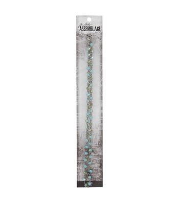 Tim Holtz® Assemblage 18'' Silver Chain-Aqua Iridescent Beaded