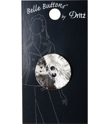 Dritz Belle Button Etched Disk Silver