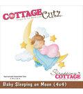CottageCutz Die 4\u0022X4\u0022-Baby Sleeping On Moon